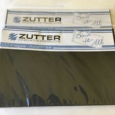 "Zutter Bind-It-All - 20 Precut Black 7.5"" x 5"" pages each - 2 sets  - NEW"