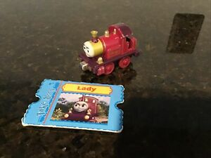 Thomas & Friends TAKE N PLAY DIECAST LADY PURPLE ENGINE  W/CHARACTER CARD