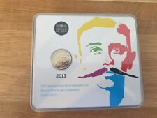 2 Euros Commémorative BU France 2013 Coubertin - Coincard Officielle