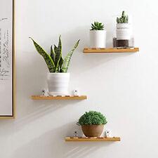 Wood Wall Mounted Shelf Display Hanging Rack Storage Holder SL