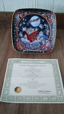 The Franklin Mint A Visit From Santa Claus Bill Bell Porcelain