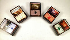 mtg Magic the Gathering 100 basic land game card lot mixed mana