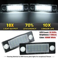 2x 18 LED License Number Plate Light For VW Golf MK4 Transporter T5 T6 Touran