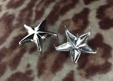 Motorcycle Jacket Silver Stars Studs Cafe Racer Rockers Schott Perfecto One Star