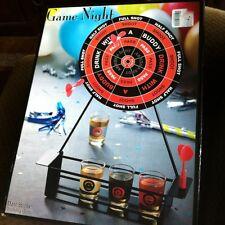 Game Night Dart Board Drinking Shot Game w/Darts, Shot Glasses & Dart Board