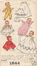 "1844 Vintage Baby Doll Pattern Size 20"" - Year 1956"