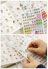 #28 cute bread girl cartoon pvc stickers notebook diary decoration 6 sheets