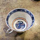 Antique Chinese Rice Grain Porcelain Tea Cup Crane Blue White Red Motif