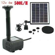 500l/h Solar Panel Powered Water Pump Garden Pool Pond Fish Aquarium Fountain UK