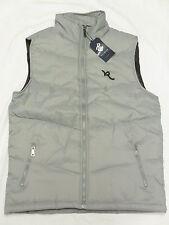 $50 NWT NEW Mens Rocawear Contrast Logo Puffer Vest Jacket Grey Urban Sz M N287