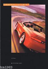 1996 Mitsubishi Poster : 3000GT,DIAMANTE,GALANT,ECLIPSE,SPYDER,MONTERO,PickUp,
