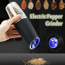 Electric Salt And Pepper Mill Battery Operated Shaker Adjustable Grinder Abrader