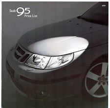Saab 9-5 Saloon & Estate Specification 2003-04 UK Market Brochure