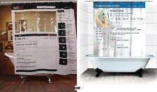 Facebook Youtube Bathroom Shower Curtain Bath Polyester 180X180cm Social Media