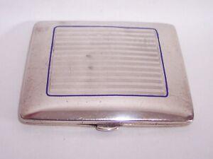 Vintage Antique ART DECO Alpacca SILVER Pocket CIGARETTE CASE - EWC Mark