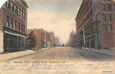 Anderson IN Handcolored: Edmund Johnson Furniture~Laundry Sign~Rotograph 1906