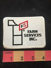 Vintage & As-Is FS FARM SERVICES INC. Advertising Patch 00M3