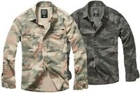 Brandit Herren Militär Hemd Camo Tarn Vintage Shirt S M L XL 2XL 3XL 4XL 5 6 7XL