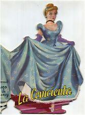 DISNEY, CINDERELLA, CENICIENTA, ILLUSTRATED BOOKLET BY EDIGRAF BARCELONA 1972 m