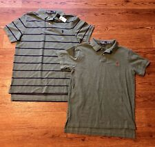Polo Ralph Lauren Mens Large Green Shirt Set Of 2 NICE
