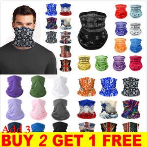 Men Women Face Mask Tube Neck Warmer HeadBand Snood Scarf Buff Bandana Balaclava