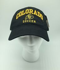 University Of Colorado CU Boulder Buffaloes Black SOCCER PAC 12 Hat NEW OSFM