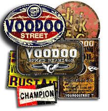 Autocollant RAT Pack, ratty adhésif, VOODOO + autocollant Champion libre! 6 total.