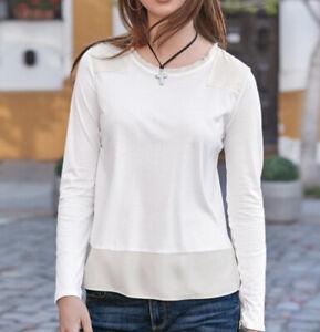 Sundance Catalog Silken Ways Top-White-Size XS-NWOT