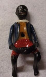 Vintage Antique Cast Iron African American Man Toy Part