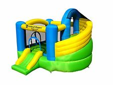 MANUFACTURE BLOW OUT ! Island Hopper Curved Double Slide Bounce House - NEW