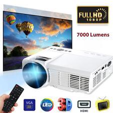 7000 Lumens HD 1080P LED Heimkino Beamer Video Projektor Multimedia HDMI TV USB