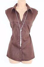 Brown 100% Linen BEXLEYS Fitted Sleeveless Women's Shirt Blouse Vest UK 18 UK 20