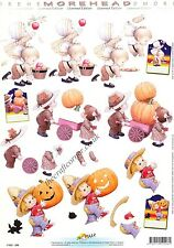 Halloween Bambini Morehead 3D DECOUPAGE Paper Craft Scheda Making taglio REQ