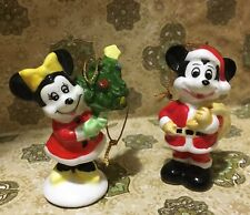 Vintage Disney Christmas Ornaments - Mickey & Minnie Mouse - Made in Japan