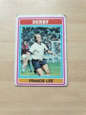 Topps Footballers  1975-76  FRANCIS LEE  DERBY  COUNTY  NO  261