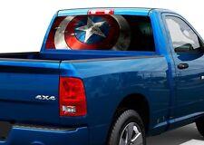 Captain America SHIELD Rear Window Wrap Graphic Decal Sticker Truck SUV