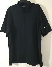 Nike Golf Tour Performance Dri-Fit Short Sleeve Black Polo Shirt Size 2XL