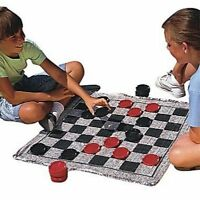 Checkers Game Rug Kids Large Area Board Family Fun Child Gift Toy w/ Pieces