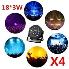 4pcs Stage Light LED DJ Light RGB PAR64 DMX Party Disco Light High Power  18X3W