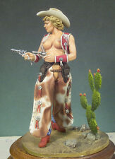 G022 Cow Girl Andrea Miniatures 1 22 Scale 80mm Metal Miniature