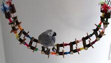 PAPPAGALLI giocattoli ponte sospeso o si arrampichi capo 110cm pappagalli liberamente Sedile Nuovo