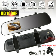 "2.7"" 1080P LCD Car Camera Dash Cam Video Recorder Rearview Mirror Vehicle USA"