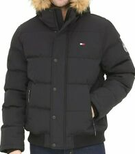 Tommy Hilfiger Mens Quilted Cloth Bomber Jacket with...