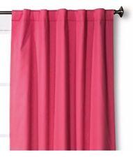 "Pillowfort Twill Light Blocking Lined Curtain Panel 84"" Pink Nwop"