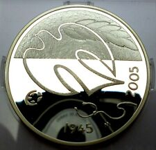 Finland 10 Euro 2005 silver coin Proof 60 years Peace and Freedom (T47,2) No2
