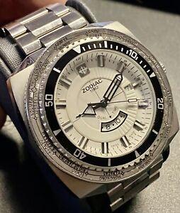 ZODIAC Super Sea Dragon Watch Dual Time Diver World Time  ZO3706