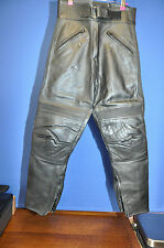 LEATHER MOTORBIKE TROUSERS SIZE 12