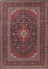 Vintage Navy Blue Floral Ardakan Oriental Hand-Knotted Area Rug Dining Room 7x10
