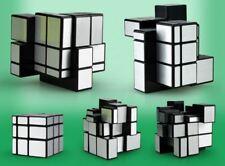 QiYi Magic Cube Speed Cube 3X3X3 Silver Mirror Rubik Magic Puzzle  Kids Toy ABS