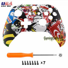 For Xbox One X One S Controller Front Housing Shell Sticker Bomb Soft Touch Grip